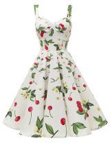DRESSTELLS 1950s Retro Audrey Swing Pinup Rockabilly Dress Pleated Vintage Dress