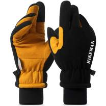 Ski Gloves for Men Waterproof, Winter Gloves with Touch Screen Fingers, Motorcycle/Snow Gloves Cold Weather