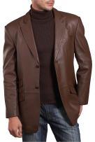 BGSD Men's Noah 2-Button Lambskin Leather Blazer (Regular & Tall)