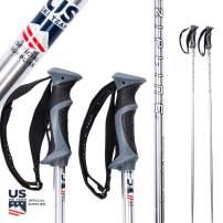 Zipline Ski Poles Carbon Composite Graphite - Chrome 16.0 - U.S. Ski Team Official Supplier
