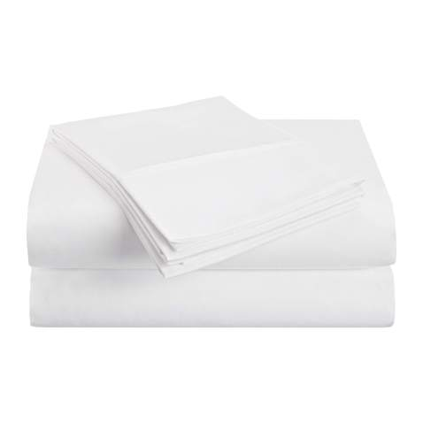 Superior 1500 Series Premium Quality 100% Brushed Soft Microfiber 4-Piece Luxury Deep Pocket Cooling Bed Sheet Set, Hypoallergenic, Wrinkle and Stain Resistant - Full, White