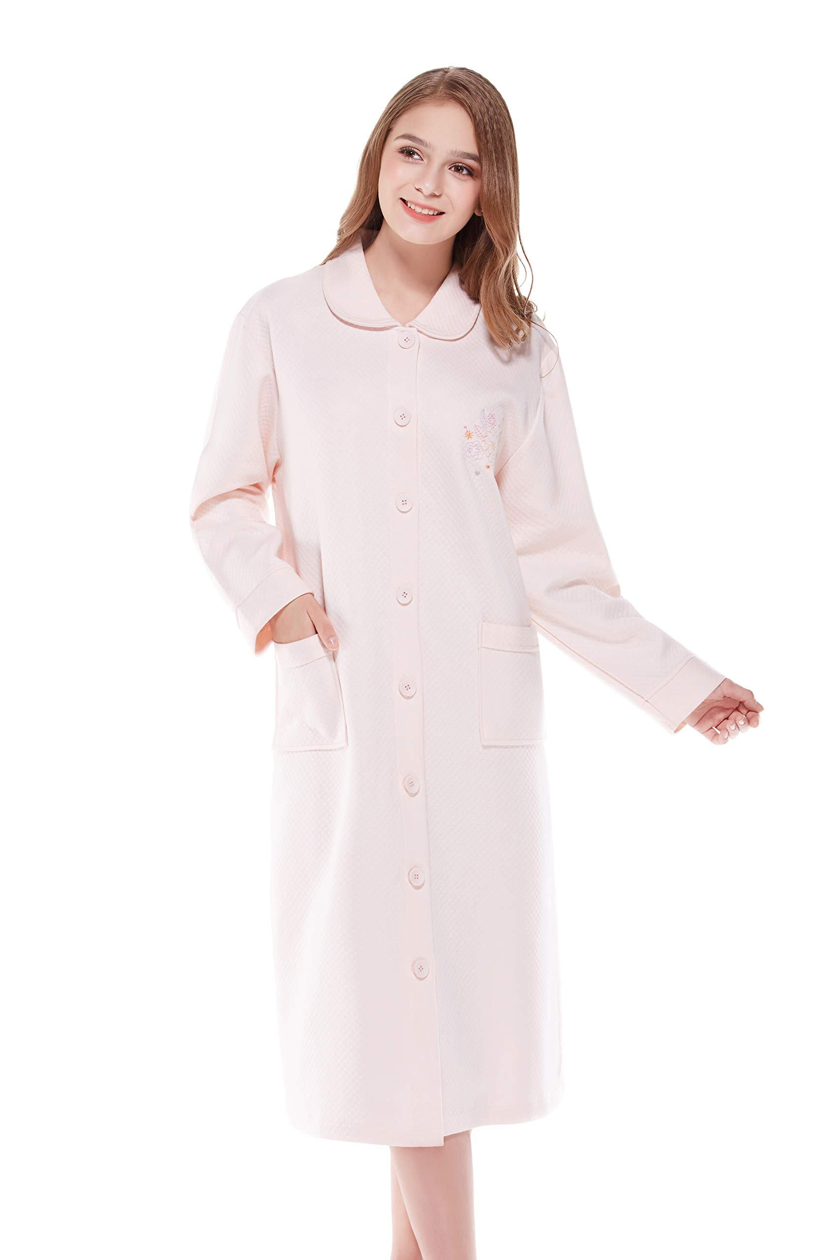 Long Women's Robes with Pocket, Soft Cozy Bathrobe for Women, Warm Comfortable Loungewear