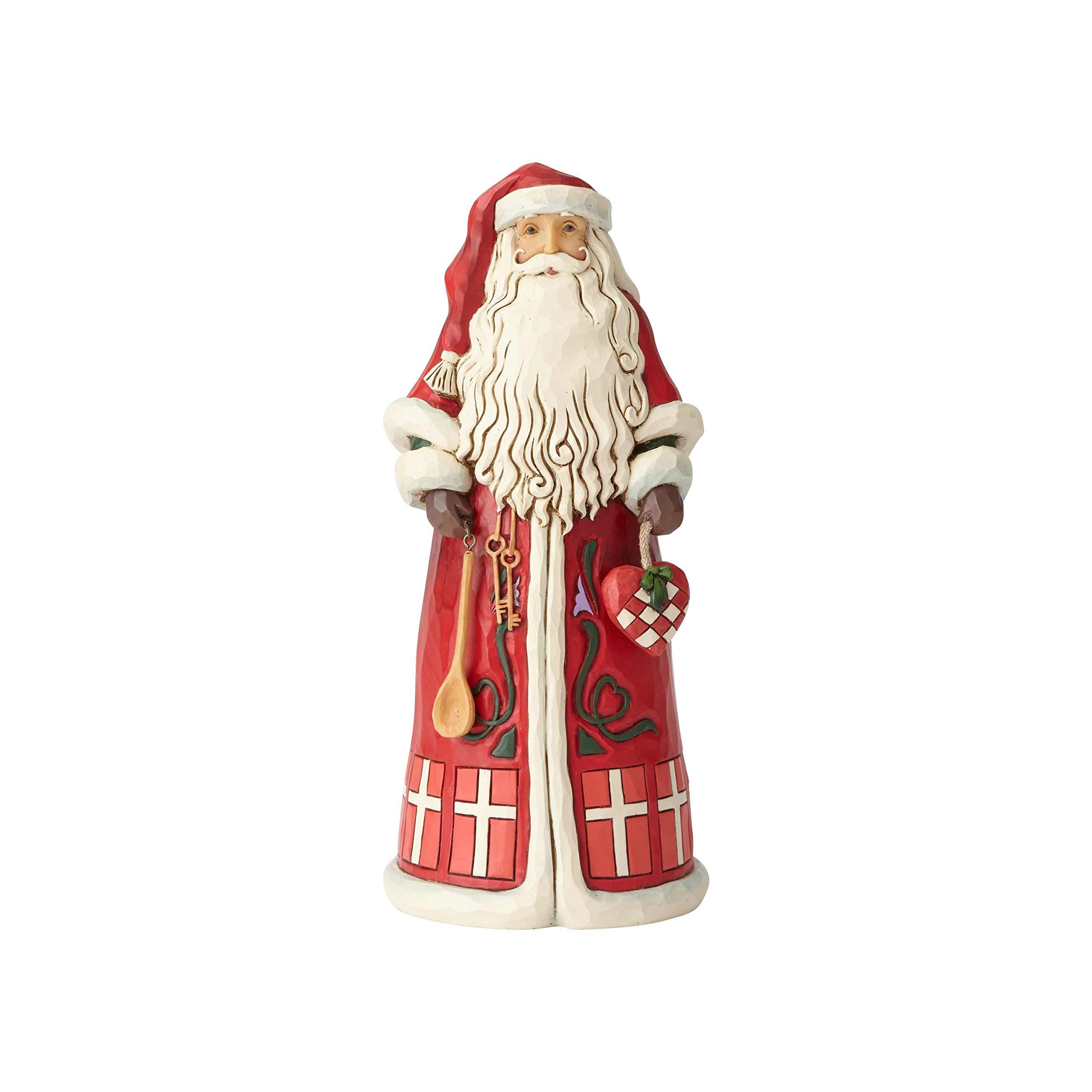 "Enesco Jim Shore Heartwood Creek Danish Santa Around The World Figurine, 7"", Multicolor"