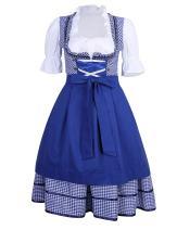 GloryStar Women's German Dirndl Dress Costumes for Bavarian Oktoberfest Carnival Halloween
