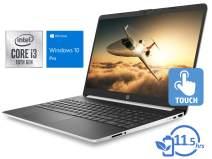 "HP 15 Laptop, 15.6"" HD Touch Display, Intel Core i3-1005G1 Upto 3.4GHz, 16GB RAM, 512GB SSD, HDMI, Card Reader, Wi-Fi, Bluetooth, Windows 10 Pro S"