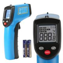 BENETECH Infrared Thermometer Cooking Digital Temperature Gun -58~752℉(-50~400℃) with Adjustable Emissivity & Max Min and Ambient Temperature Measure, Self Calibration, Laser Pyrometer Not for Human