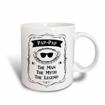 3dRose Pap Two Tone Blue Mug, 11oz