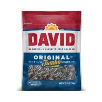 DAVID Roasted and Salted Original Jumbo Sunflower Seeds, 5.25 oz