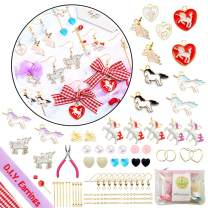 SUNOVELTIES DIY Jewelry Kit - Unicorn Earrings Set, Art Crafts Making Supplies Handmake Gift