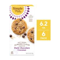 Simple Mills Soft Baked Cookies, Dark Chocolate Toasted Coconut, 6.2 oz, 6 count (PACKAGING MAY VARY)