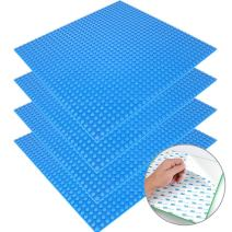 """CLOURF Peel Stick Baseplates 10"""" x 10"""" in Variety Color - Compatible All Major Brands (4 Blue)"""