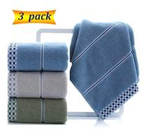 """LayYun Bathroom Hand Towels Sets, 100% Cotton Face Towels, Super Soft Highly Absorbent Hand Towel for Everyday Use, Home, Camping, Gym (3 Pack,14"""" X 29"""")"""