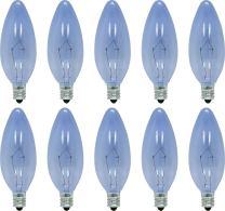GE Lighting 74034 25-Watt 135-Lumen Blunt Tip Light Bulb with Candelabra Base, 24-Pack