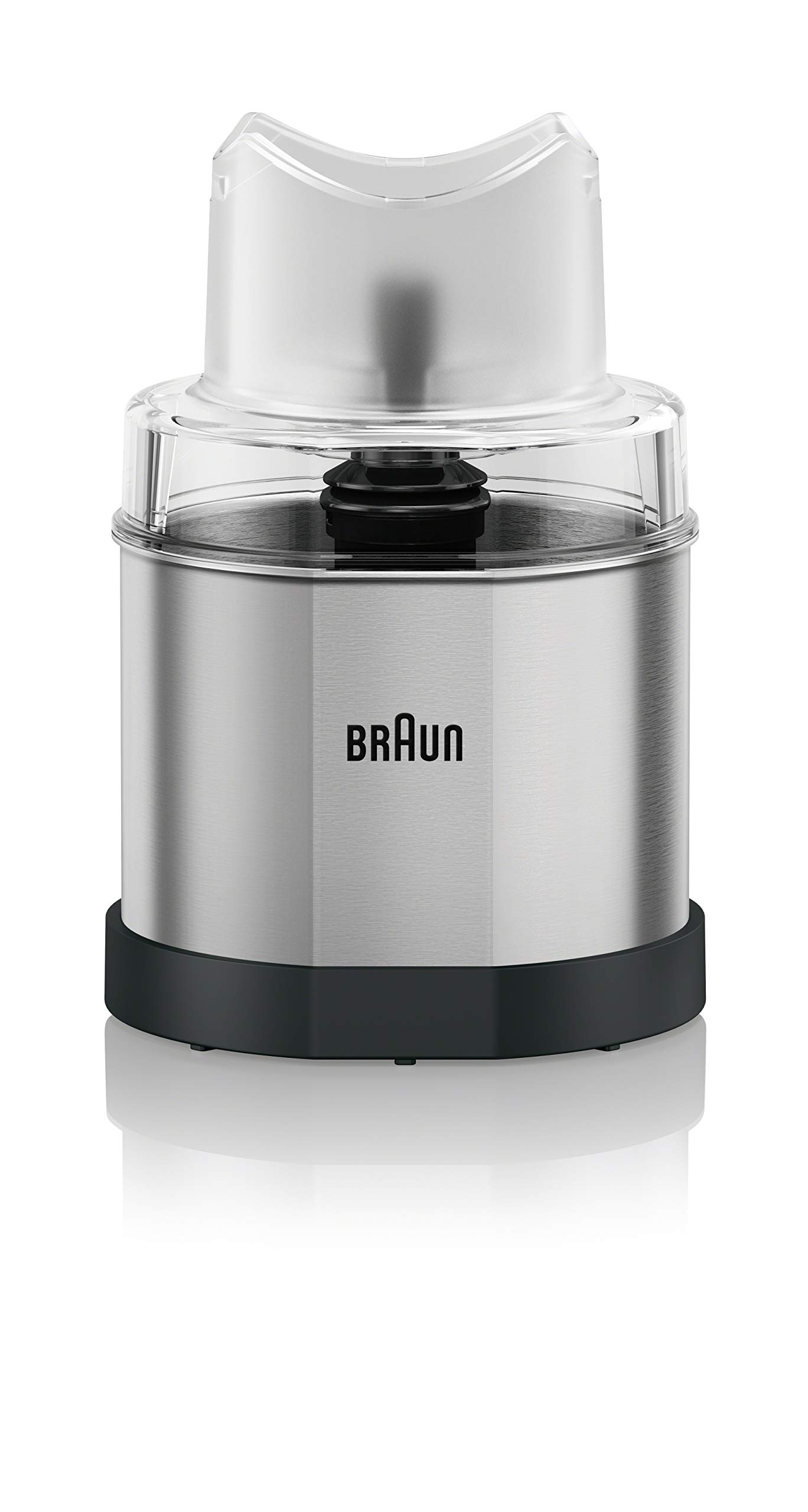 Braun MQ60 MultiQuick Hand Blender Attachment Coffee and Spice Grinder, 1.5-Cup, Stainless Steel
