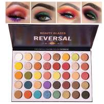 Beauty Glazed Makeup Palette Eyeshadow 40 Colors Matte and Shimmers High Pigmented Eye Shadow Natural Eye Lids Warm and Cool Tone Pop Colors Purple Green Blue Eyes