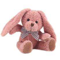 """Burrow Bunny Rabbit Stuffed Animal Kids Toys Plush Rabbit (Plush Toy, Washable Surface, Soft Fabric , 12"""" H , Great Gift for Girls and Boys - Best for Babies and Toddlers, All Ages) (Pink)"""