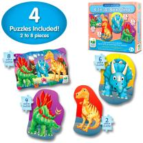 The Learning Journey My First 4-In-A-Box Puzzle - Dinosaur - Educational Toddler Toys & Gifts for Boys & Girls Ages 2 & Up
