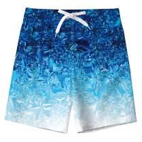 uideazone Boys Teens Swim Trunks Quick Dry Waterproof Surfing Board Shorts Drawstring Elastic Waist with Mesh Lining 5-14T