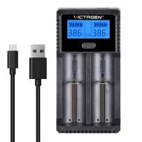Victagen Universal Battery Charger,LCD Display Rapid Charger for Rechargeable Batteries Ni-MH Ni-Cd AA AAA AAAA C D RCR123A RCR123 Li-ion LiFePO4 IMR and All Kind of Cylindrical Rechargeable Battery