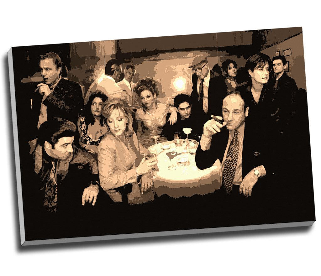 Sopranos Canvas Collage Modern Gangster Canvas Print Wall Art Picture Canvas Prints Large A1 30 X 20 Inches (76.2Cm X 50.8Cm)