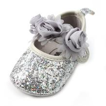 Antheron Baby Girls Mary Jane Flats Soft Sole Infant Moccasins Floral Sparkly Toddler Princess Dress Shoes