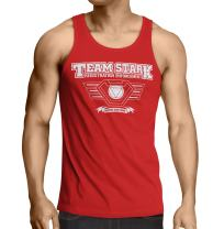 Iron Man Tank Top Inspired -Team Stark- Tank Infinity War Avengers-Red