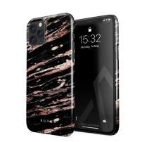 BURGA Phone Case Compatible with iPhone 11 PRO MAX - Rich Rose Gold and Black Marble Cute Case for Girls Thin Design Durable Hard Plastic Protective Case