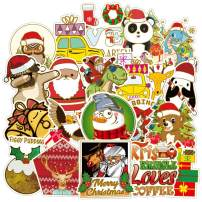 Gaekce 52-Pcs Christmas Stickers Decals,Cute Waterproof Christmas Stickers for Christmas Decoration,Holiday Celebration Stickers,Window Clings Decals,Party Supplies, Water Bottle,Phone,Hydro Flask