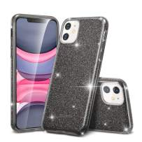 """ESR Glitter Case Compatible for iPhone 11 Case, Glitter Sparkle Bling Case [Three Layer] for Women [Supports Wireless Charging] for iPhone 11 6.1"""" (2019), Black"""