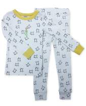 Finn + Emma Little Prince Organic Cotton Toddler Pajama Sleep Set – Estrellas Top & Yellow Stars Pants, 2T