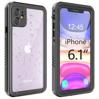 """gnaisi iPhone 11 Waterproof Case, Shockproof Dropproof Dirt Rain Snow Proof iPhone 11 Case with Screen Protector, Full Body Protection Heavy Duty Underwater Cover for iPhone 11/6.1""""【2019】"""