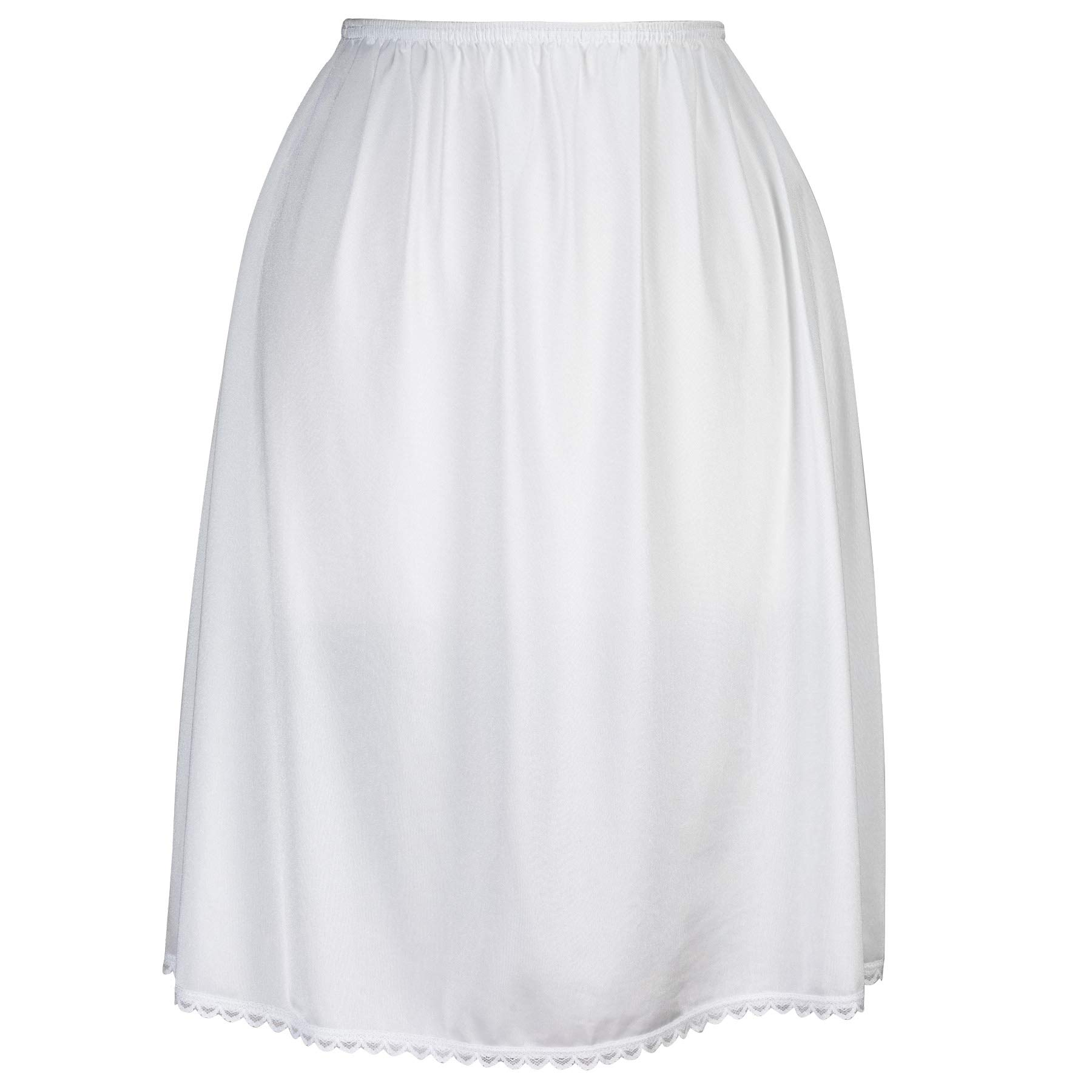 "Valair Classic Short and Long Half Slip Skirt for Ladies and Girls - Slight Flair - Anti Static - Ranges 14"" Till 34"" Lengths"