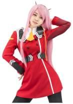 C-ZOFEK Darling in The FRANXX Zero Two Uniform Cosplay Red Costume
