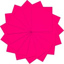 "Threadart Neon Pink 10"" x 12"" Heat Transfer Vinyl Precut Sheets | Solid Colors | 15 Sheets | For Silhouette Cameo Cricut |HTV"
