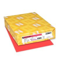 "Neenah Astrobrights Colored Cardstock, 8.5"" x 11"", 65 lb/176 GSM, Rocket Red, 250 Sheets (22841)"