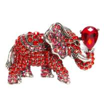 cifibifun Elephant Brooch Pin Animal Pendant, Made from Rhinestone Classic Luxuriant Style with Gift Packing for Her