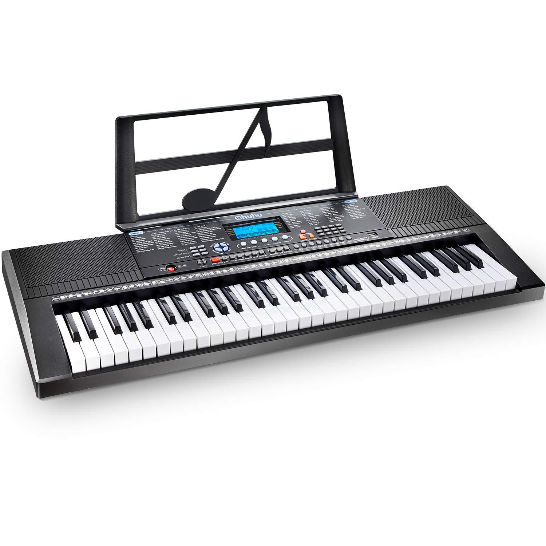 Electric Keyboard Piano 61-Key, Ohuhu Musical Piano Keyboard with Headphone Jack, USB Port & Teaching Modes for Beginners