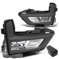 DNA Motoring FL-ZTL-279-CH Driving Fog Light Lamps with Bezels+Switch