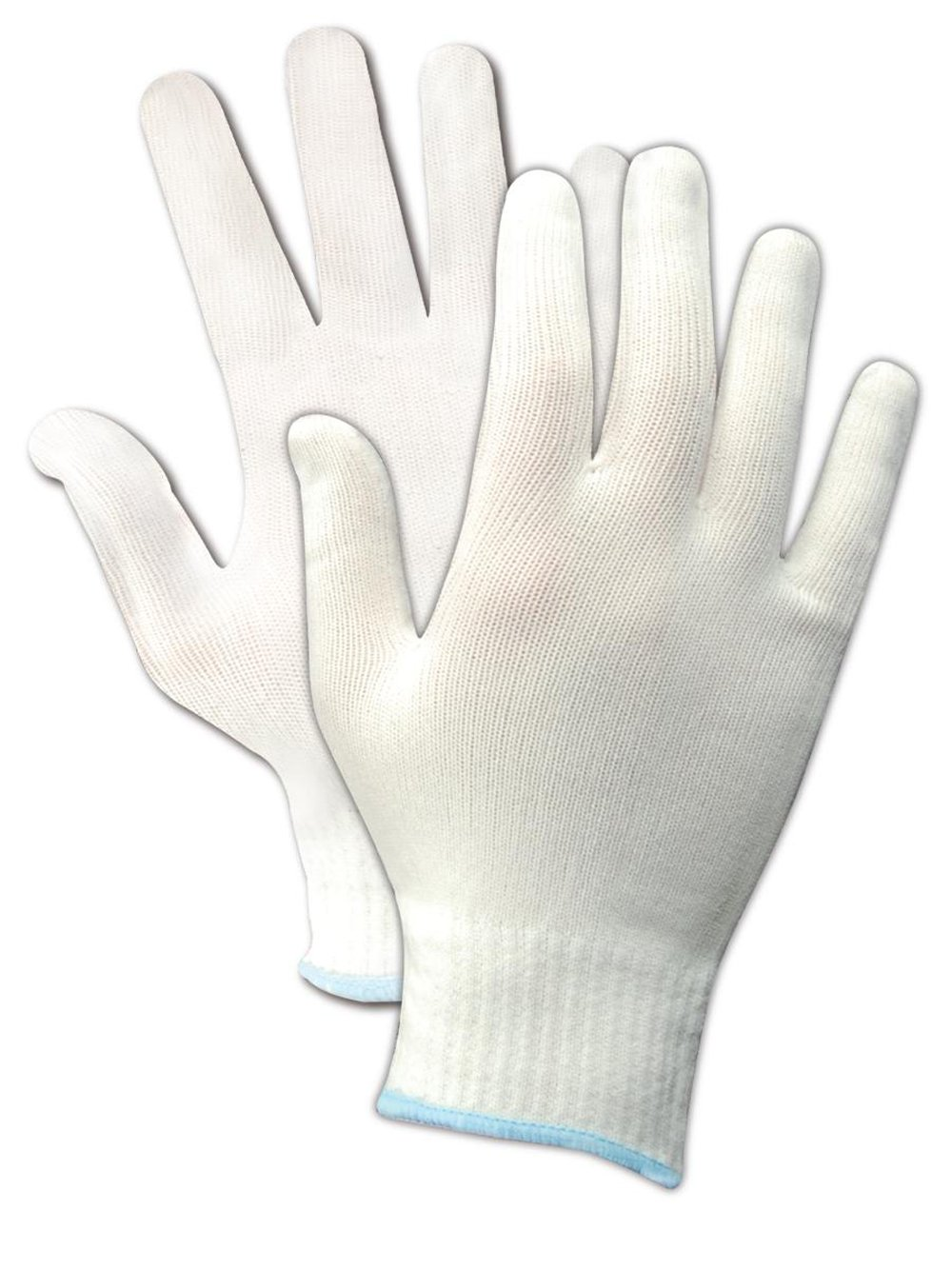 "Magid FiberLock Precision I 31NY 9¼"" Medium Weight Machine Knit Nylon Gloves, Large"