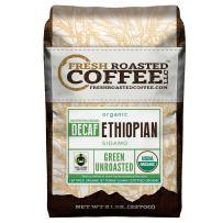 Fresh Roasted Coffee LLC, Green Unroasted Ethiopian Sidamo Decaffeinated Coffee Beans, Fair Trade, Water Process, USDA Organic, 5 Pound Bag