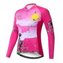 Cycling Jersey Women's Long Sleeve Bike Jacket Biking Shirt Bicycle Clothing