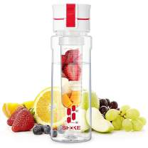 SHOKE Fruit Infuser Water Bottle 24 OZ, BPA Free Hydration Infusion Water Bottle with Removable Infuser Filter,Flip Top Lid Leak-Proof with Handle for Healthy and Home Sports Office Fitness