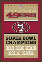 "Trends International NFL San Francisco 49ers - Champions 13, 22.375"" x 34"", Mahogany Framed Version"