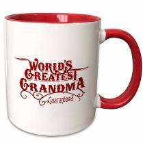 3dRose 219404_5 Worlds Greatest Grandad Guaranteed Design in Blue Mug, 11 oz, White/Red
