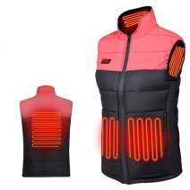 WANFEI Heated Vest for Men/Women, Lightweight Winter Warm Vests with USB Insert