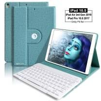 iPad Pro 10.5 Keyboard Case 2017 for iPad Pro 10.5 Keyboard Case/iPad Air 10.5(3rd Gen) 2019-360 Rotate Wireless Keyboard Case Auto Sleep/Wake with Ultra-Thin Keyboard Cover