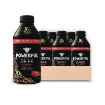 Powerful Drink – Protein Shake, Meal Replacement Shake, Greek Yogurt, Gluten Free, Ready to Drink, 20g Protein, Pack Variations (Mocha Double Espresso, 12 Fl Oz (Pack of 6))