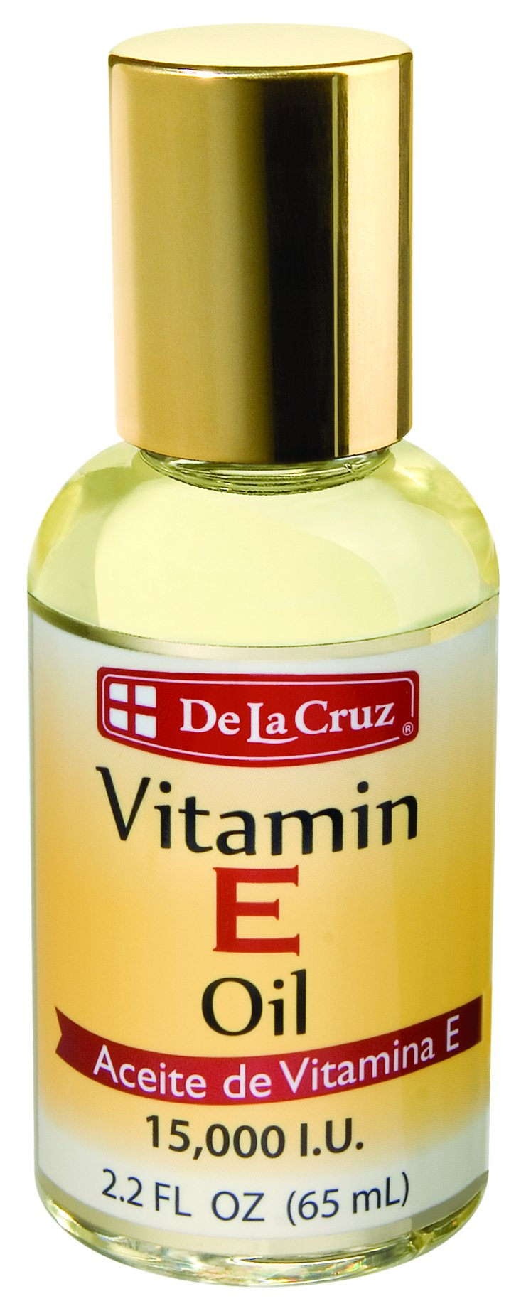 De La Cruz Vitamin E Oil 15,000 IU, No Preservatives, Artificial Colors or Fragrances, Made in USA 2.2 FL. OZ. (10 Bottles)