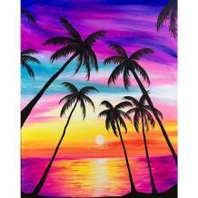 DIY 5D Diamond Painting Kit,Full Drill Acrylic Embroidery Cross Stitch Arts Craft Canvas Supply for Home Wall Decor Adults, Coconut Tree,12x16 inch