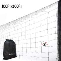 DEBARK Net Netting for Bird Poultry Aviary Game Pens Economical Bird Netting-Protect Blueberry,Plants and Vegetables from Ows (100ft x 100ft - 2'')